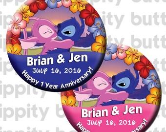 Disney Stitch & Angel (2 Buttons)