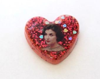 Twin Peaks Audrey Heart Shaped Pin Pinback Brooch