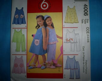 McCalls 4006 Size 6-7-8 Top, Dress and Pants..