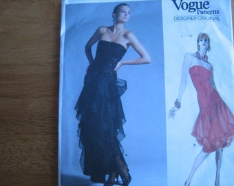 Vogue Designer Original Pattern 1701 BELLVILLE SASSOON Misses' Dress      1986       Uncut