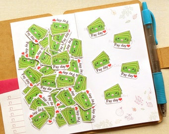 Payday Stickers [40 Pcs], Planner Stickers, Work Sticker, Working Sticker, Job Stickers, Functional Sticker, Shopping Sticker, DIY Crafts