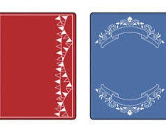Sizzix Textured Impressions Embossing Folders 2PK - MINI BANNERS Set