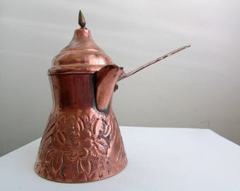 Vintage copper and brass Turkish coffee pot/cezve