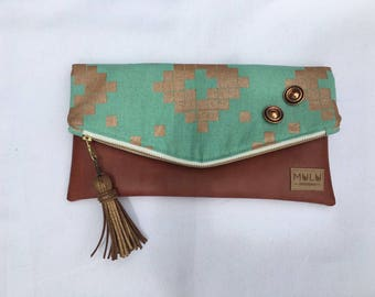 "MuLu Fold Over Clutch - ""Adeline"""