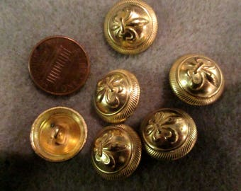 5 Gold Color Ferragamo Buttons with Shoe, Heel Motif