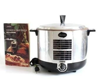 SALE Vintage Sunbeam Deep Fryer Cooker TCF-6 Small Appliance
