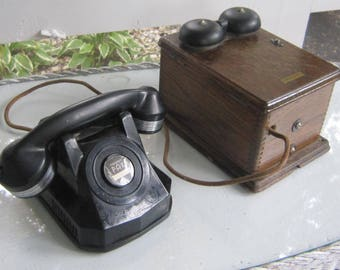Antique Telephone and Ringer Box