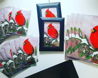 Signed Cardinal Print