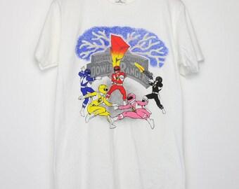 Mighty Morphin Power Rangers Shirt Vintage tshirt 1994 Billy Kimberley Tommy Zack Jason Trini 1990s Galactic Safety Officers Zordon