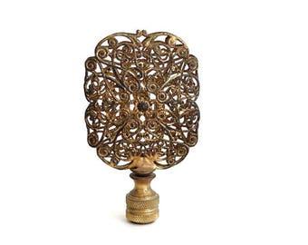 Rococo Ormolu Filigree Lamp Finial Decorated Openwork Antiqie Brass Finial