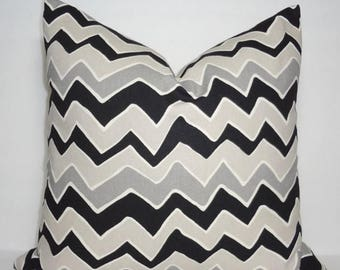 FALL is COMING SALE Black & Grey Zig Zag Chevron Pillow Covers Throw Pillows Decorative All Sizes