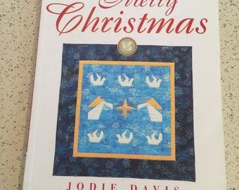 QUILTING BOOK - Paper Piece a Merry Christmas by Jodie Davis - Instructional, How To
