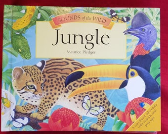 "Pop Up  Book ""Sounds Of The Jungle   - Maurice Pledger"""