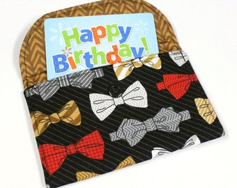 Business Card Case - Gift Card Holder - Fabric Mini-Wallet - READY TO SHIP