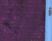 "Purple Tie-Dyed, Machine Embroidered Gauze - 38-1/2"" L X 44"" WOF"