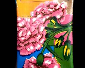Carnation oilcloth case, mini size