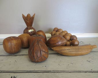 Vintage Wooden Fruit Aloha From Hawaii Childs Play Food Wooden Food