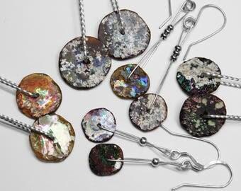Roman Glass Earrings in Silver, Choice of 5