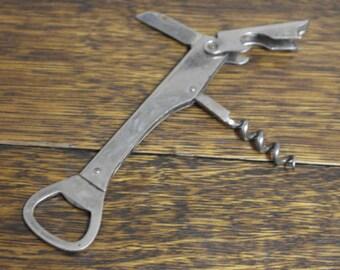 vintage bottle opener corkscrew