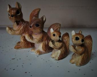 Vintage Ceramic Squirrel Family