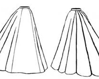 Truly Victorian TV296 1895 Bell Skirt Pattern All Sizes