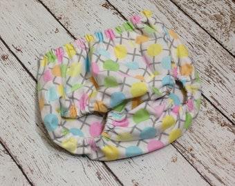 Diaper Cover Newborn Baby Girl Photo Prop Pastel Polka Dots Ready to Ship