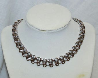 Bronze Chainmaille Necklace/Not Tao Linear Necklace/Pawinspiredcreations