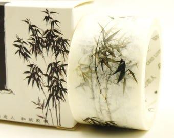 Black Bamboo - Japanese Washi Masking Tape - 30mm Wide - 7.6 Yard