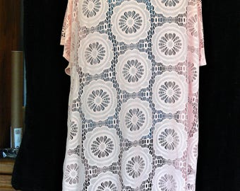 peach long cover up plus size 1x