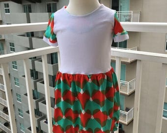 70% Off Teal & Coral Heart Knit Dress Size 2