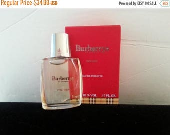 On Sale Designer Burberry's For Men Perfume Bottle * Miniature Collectible Glass Bottle * Father's Day Gift Idea For Men