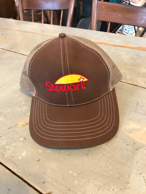 Farmers Stewart Seed Hat Brown Mesh Adjustable - The Real Thing