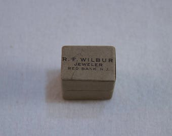 Vintage Paper Ring Box, Ring Presentation Box