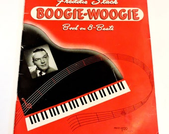 Freddie Slack Boogie Woogie, Book on 8 Beats, Piano Music Book itsyourcountry