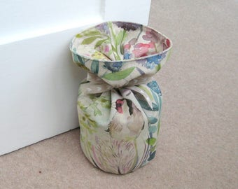 Round Fabric Door Stop - unfilled, Country Hedgerow Print, Home Decor