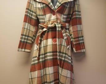 70s Wool long coat