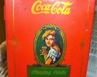Coca-Cola Metal Playing Card Tin