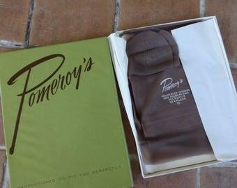 Vintage women's original nylons 1940's seamless Pomeroys Hosiery pantyhose rockabilly stockings