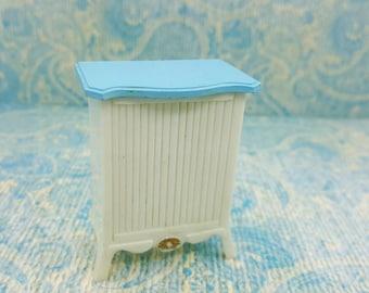 Marx Little Hostess Hamper Furniture hard plastic French Provencal Blue and White