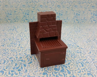 Marx Imagination Dollhouse Toy Furniture  Soft Plastic Fire pit