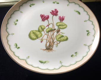 Footed Cake Plate in Victorian Gardens by Briard, Georges