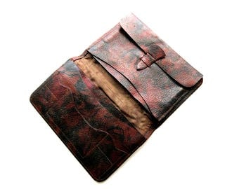 Vintage Leather Wallet with Compartments for Cards & Coins