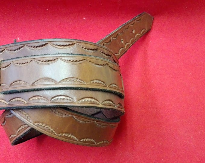 genuine leather guitar straps. tooled leather guitar strap. guitar strap,