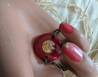 Summer Sale Rare 1930s Little Orphan Annie Bakelite Bracelet Child Size / Charm