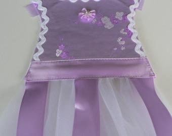 Lavender Brocade Barrette Holder
