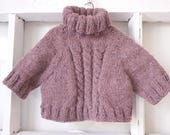 Hand knitted doll sweater for teddy bear,Doll or bear sweater by IrisBears, Doll Clothes,Handmade sweater