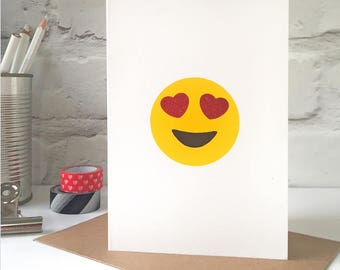 Love Eyes Emoji Valentine's Card