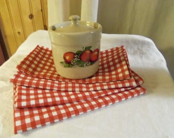 Country Farmhouse Kitchen Napkins Picnic BBQ Patio Table Setting Set of 4