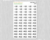 Water Plants, Neutrals - 60 Functional Planner Stickers || 06