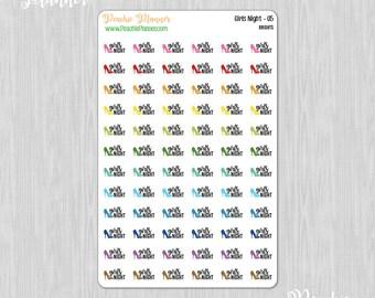 Girls Night, Rainbow Brights - 72 Functional Planner Stickers    05